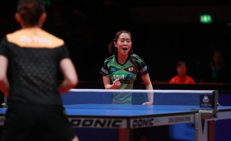 Kasumi Ishikawa of Japan won her quarter-final today ©ITTF/Twitter