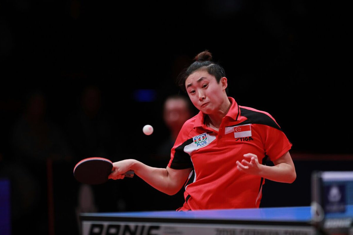 Feng Tianwei continued her winning form today ©ITTF/Twitter