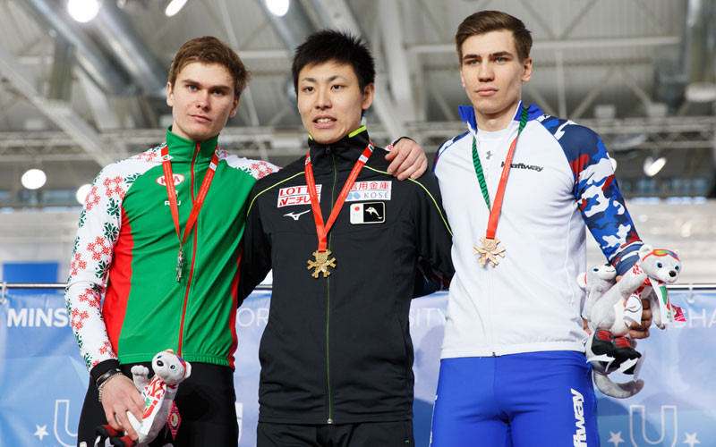 Shinhama doubles up at World University Speed Skating Championships