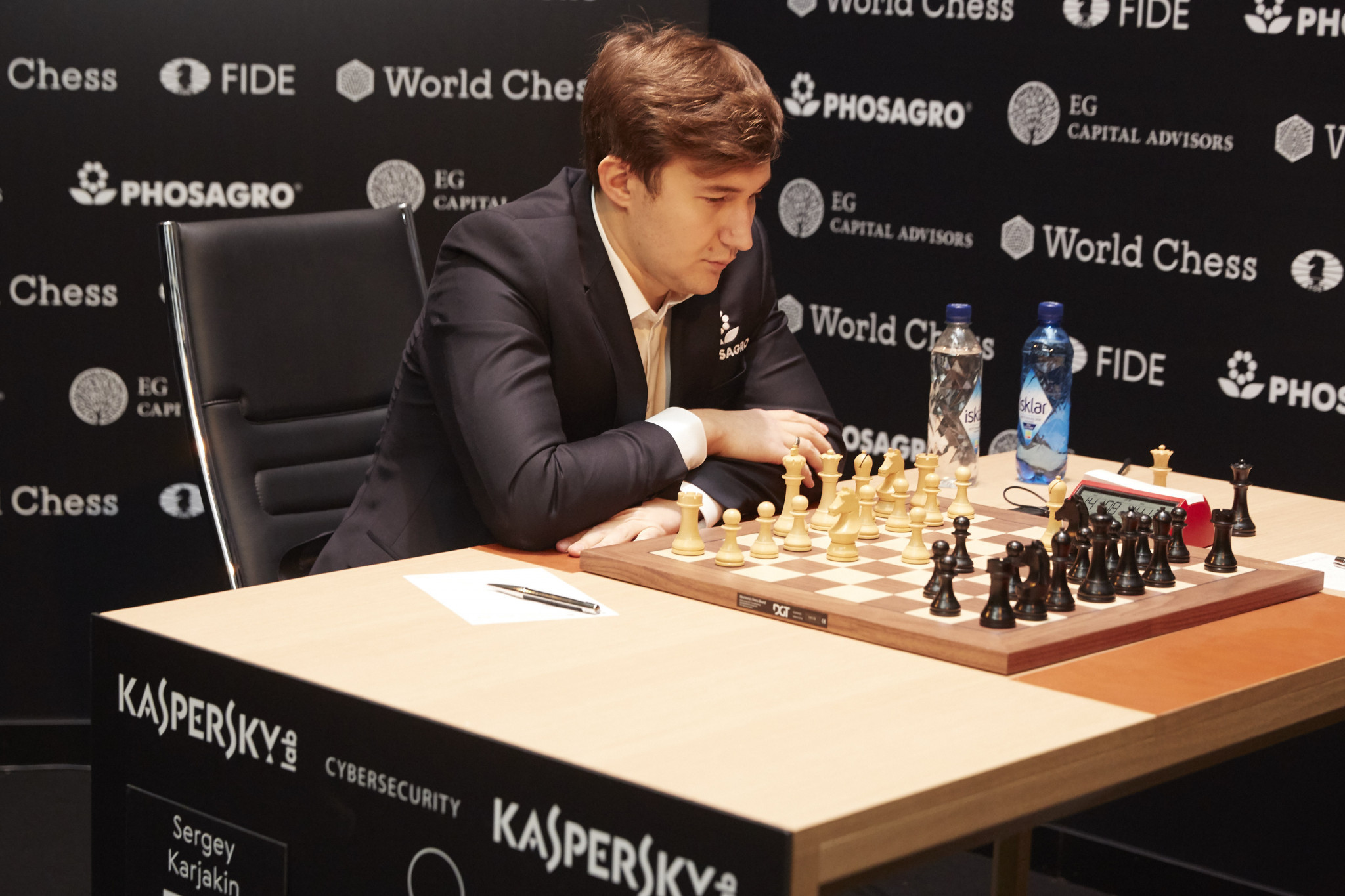 Russia's Sergey Karjakin has moved into the lead in the FIDE Candidates Tournament with two rounds to go ©Getty Images