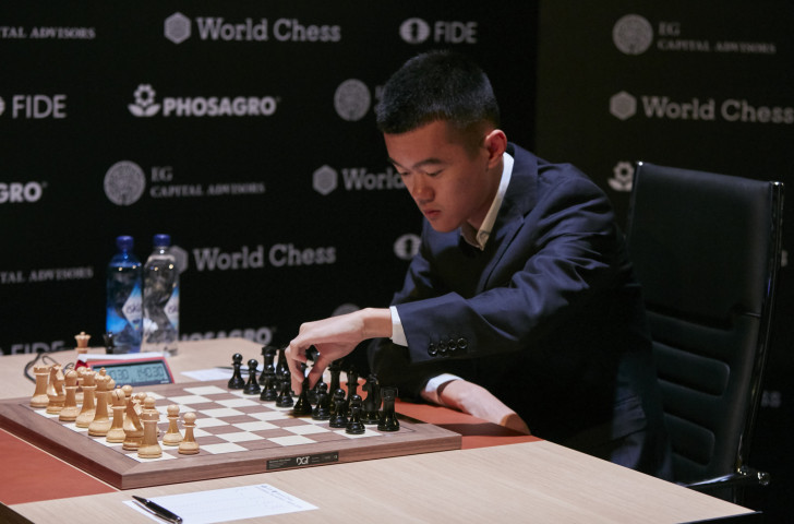 China's Ding Liren moved up to third place in the FIDE Candidates Tournament in Berlin with two rounds remaining after securing his first win of the event, against Azerbaijan's world number two Shakhriyar Mamedyarov ©Getty Images
