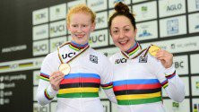 British duo break world record to clinch tandem gold at Para Cycling Track World Championships