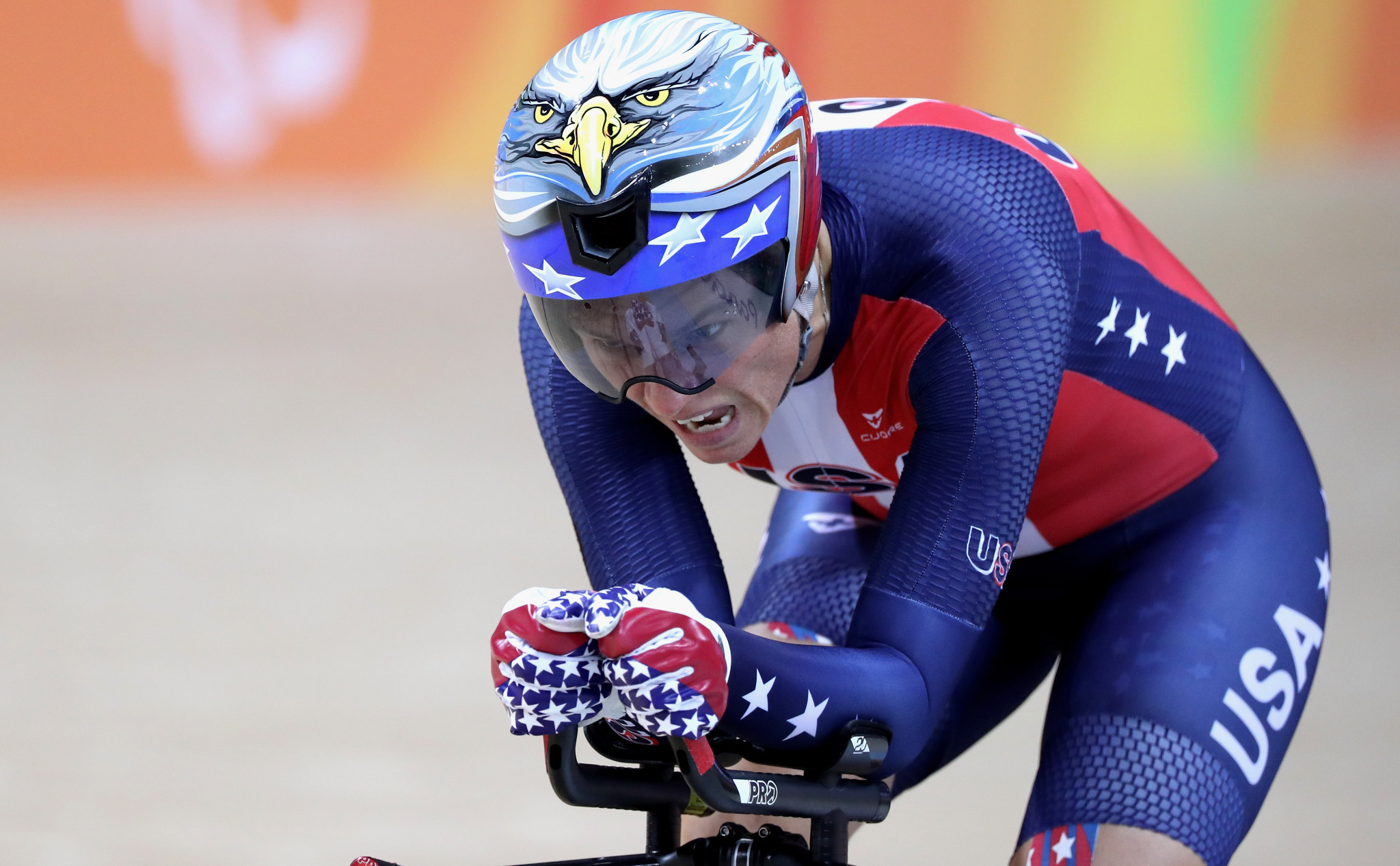 Shawn Morelli of the United States took the women's C4 individual pursuit honours ©Getty Images