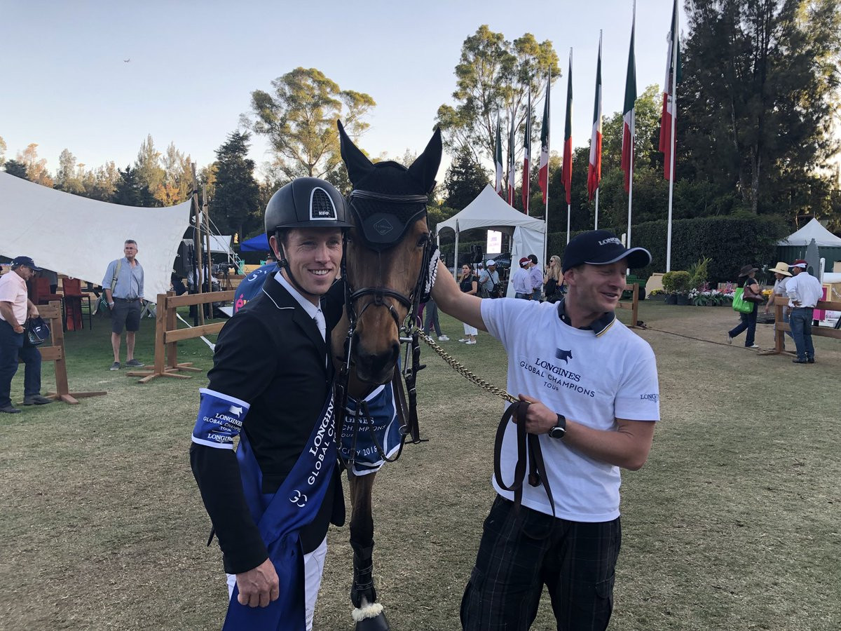 Britain's Scott Brash began his pursuit of a third Longines Global Champions Tour title with victory in the season opener ©Twitter