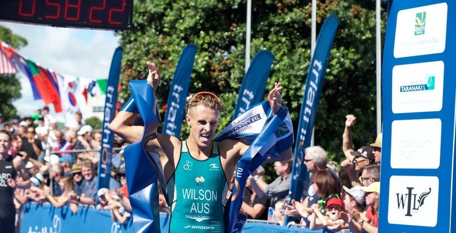Wilson secures maiden victory at ITU World Cup in New Plymouth