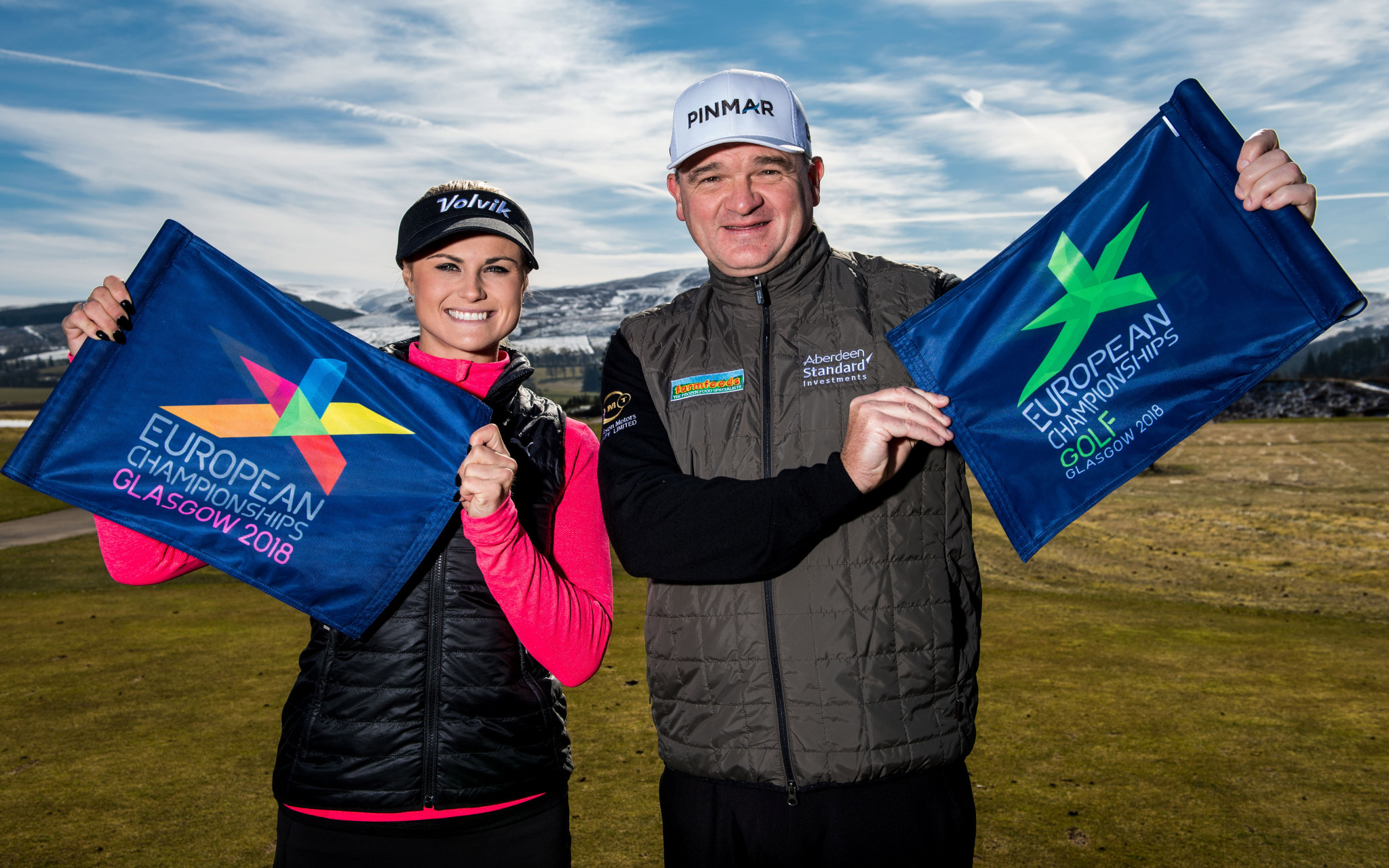 Carly Booth and Paul Lawrie are ambassadors for the new European Golf Team Championships ©EGTC