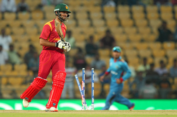 Sikander Raza of Zimbabe won the Man of the Series award - but that was no consolation for the hosts' failure to qualify for next year's Cricket World Cup ©Getty Images