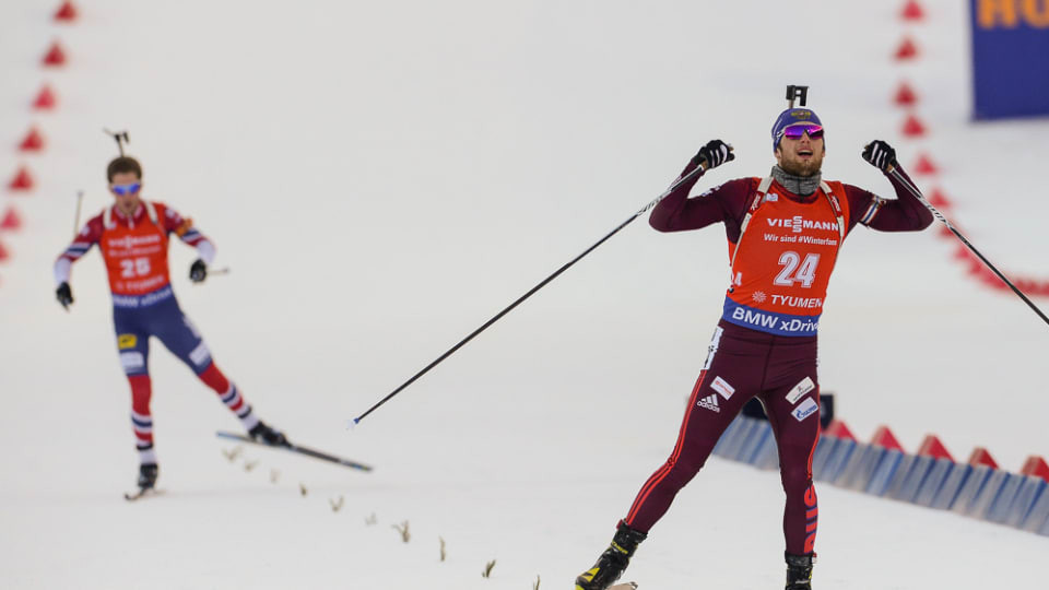 Maxim Tsvetkov secured a home gold for Russia ©IBU