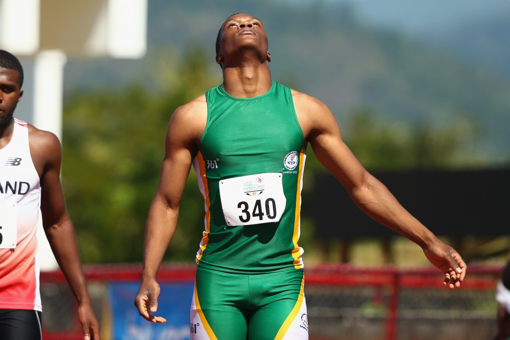 Tiotliso Gift Leotlela of South Africa proved too strong for the rest of the field as he took the men's 100m title