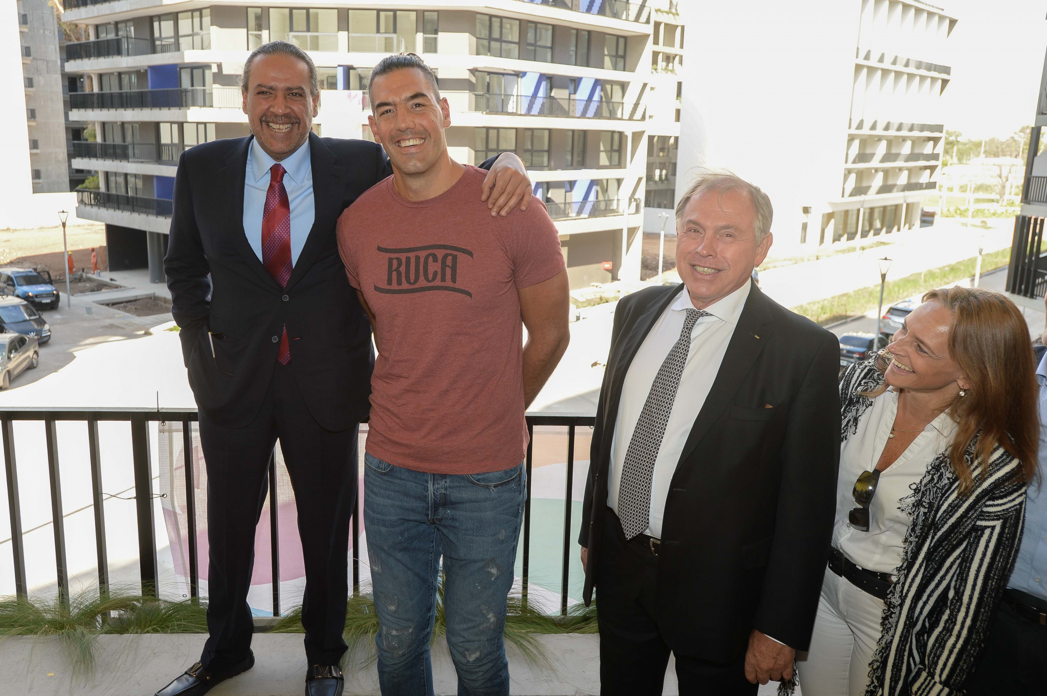 Olympic basketball medallist Luis Scola was among those present for the tour ©Buenos Aires 2018