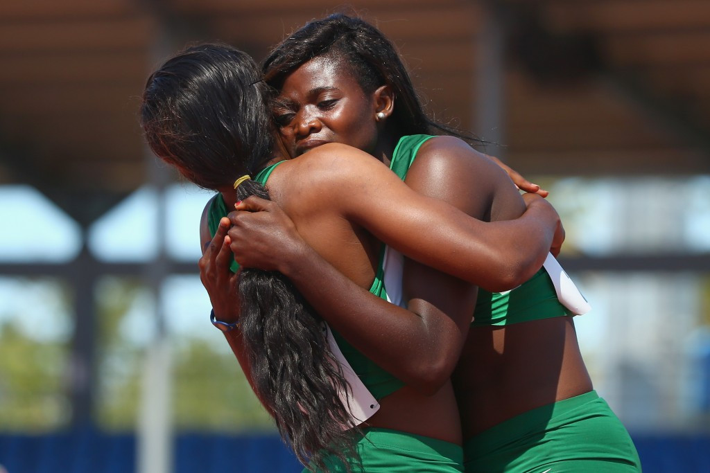 Nigeria enjoyed a fruitful opening day of athletics as they secured a one-two in the girl's 100m as well as 4x400m relay gold