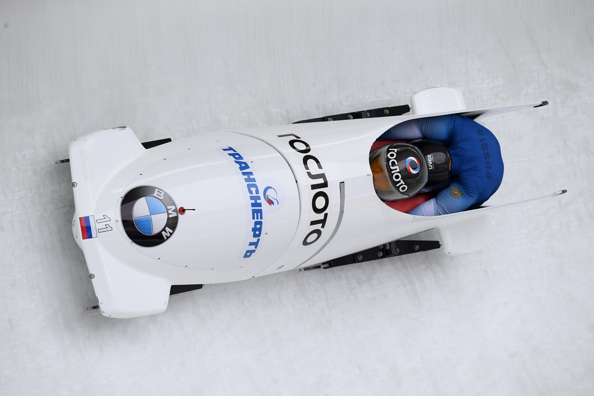 Russian bobsledder Maxim Belugin, right, failed a Sochi 2014 retest ©Getty Images