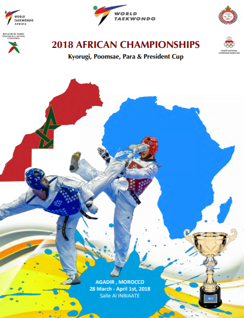 The 2018 African Taekwondo Championships are due to begin tomorrow with Moroccan city Agadir set to host the three-day event ©World Taekwondo