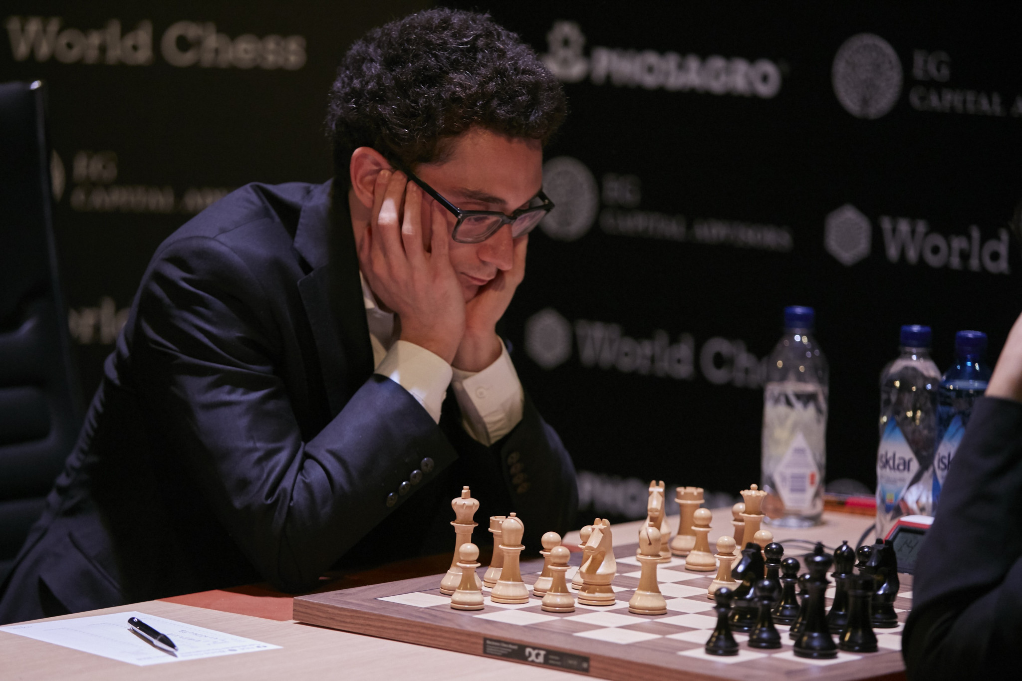 The United States' Fabiano Caruana will compete for Magnus Carlsen's World Chess Championship title in November after clinching victory at the Candidates Tournament in Berlin ©Getty Images