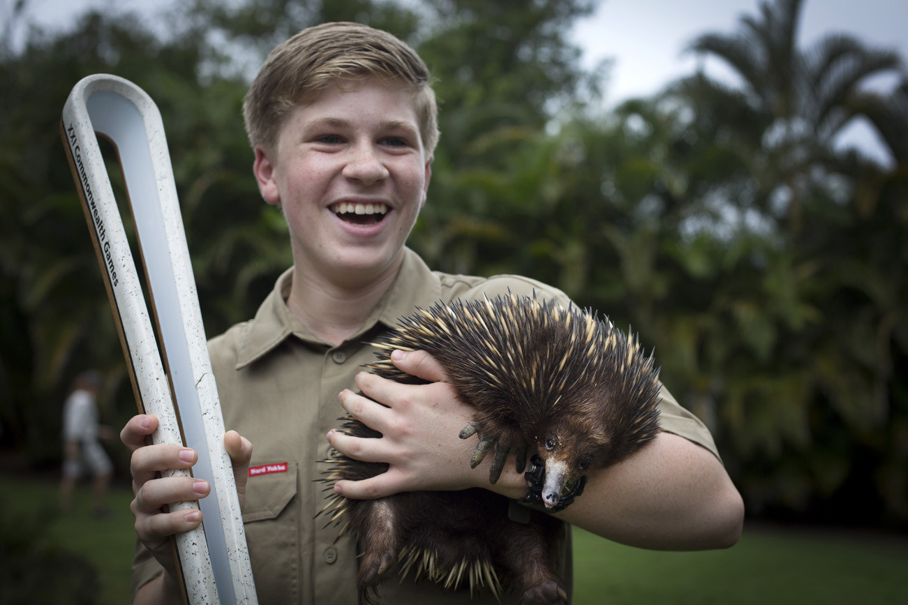 Television personality Robert Irwin carried the Baton yesterday ©Gold Coast 2018