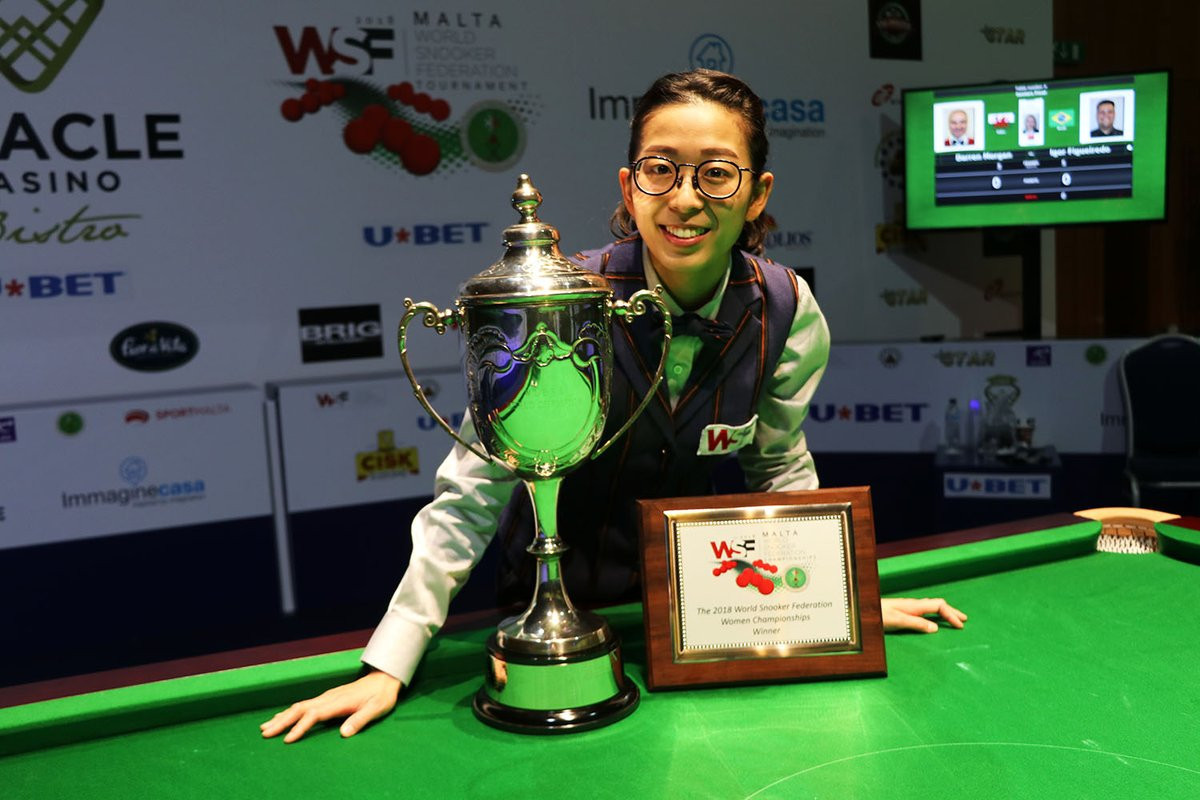 Ng On-yee won her third world title earlier this month ©World Women's Snooker Tour