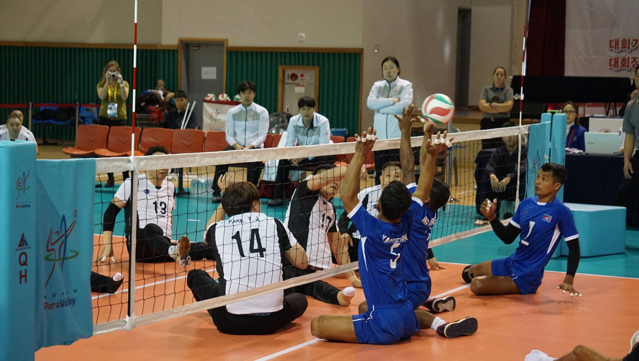South Korea delight home crowd with second victory in as many games at final qualifier for 2018 Sitting Volleyball World Championships