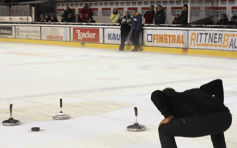 Icestocksport is a target orientated discipline which bears some similarities with curling ©IFI