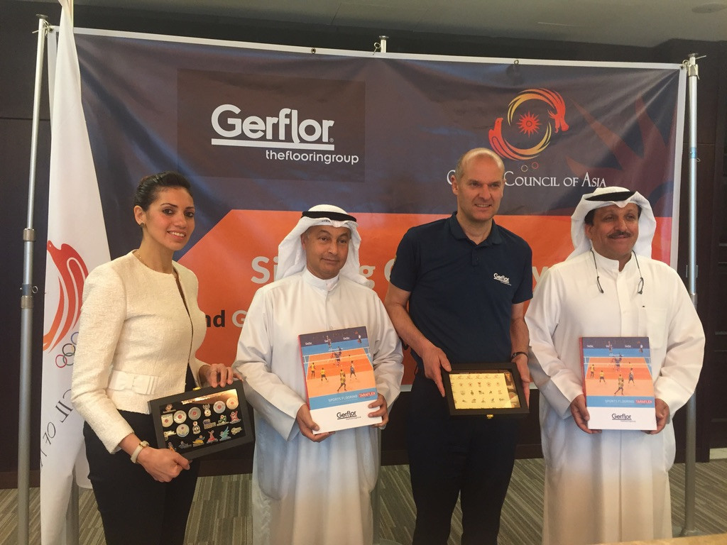 The OCA and Gerflor have signed an agreement to help develop sport in Asia ©OCA