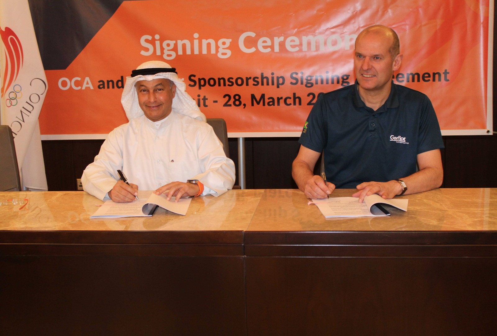 Gerflor will supply sport flooring to developing Asian nations as part of the agreement ©OCA