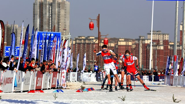 China stages first FIS cross-country city sprint competition