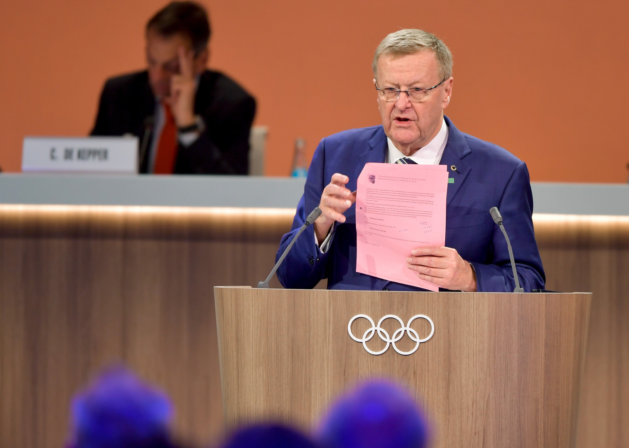CAS President and IOC member John Coates had hoped for at least one reasoned decision to be published by the end of February, but this did not happen ©Getty Images