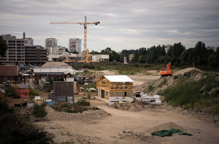 Work is underway in the St Denis suburb of Paris to construct the Athletes' Village for Paris 2024 ©Getty Images