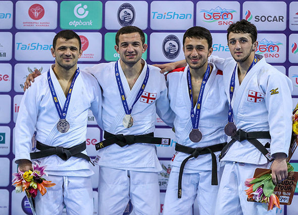 Home medal fest on opening day of IJF Grand Prix in Tbilisi