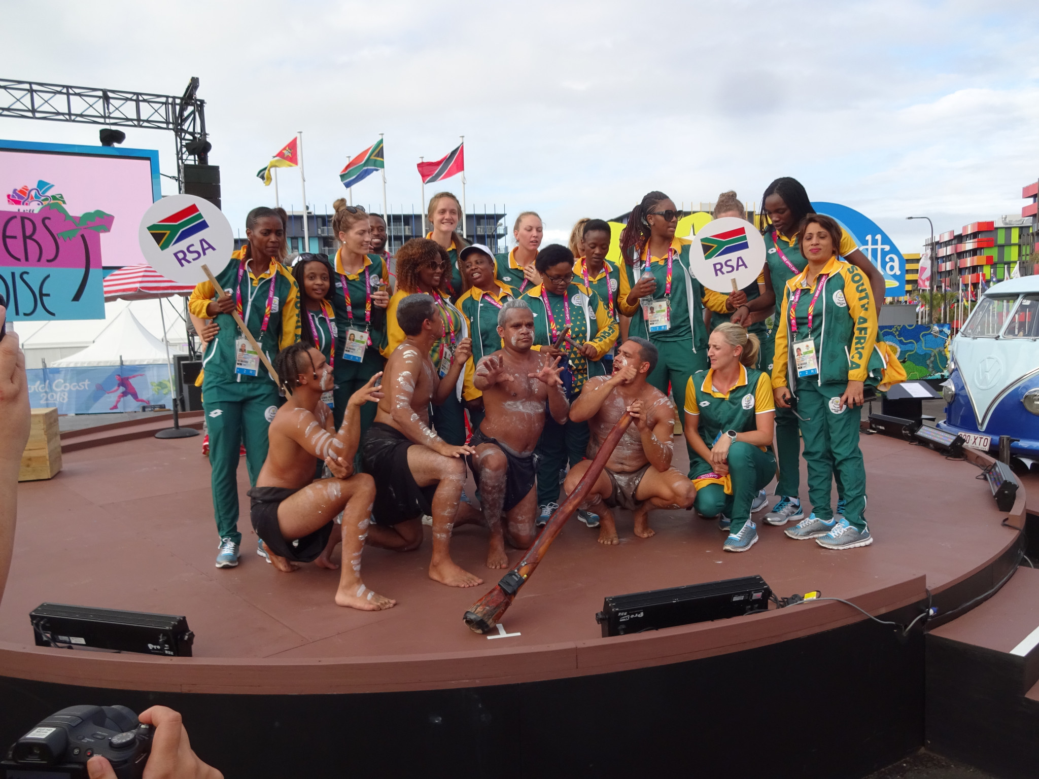 Welcome ceremonies are being held for teams at Gold Coast 2018 ©ITG