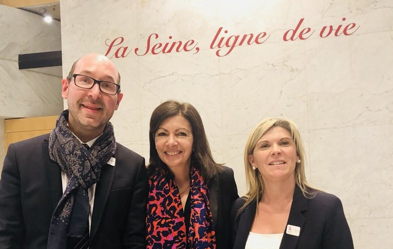 Anne Hidalgo, Mayor of Paris, centre, was today elected as President of SOLIDEO, the body charged with delivering Paris 2024 building works ©Twitter