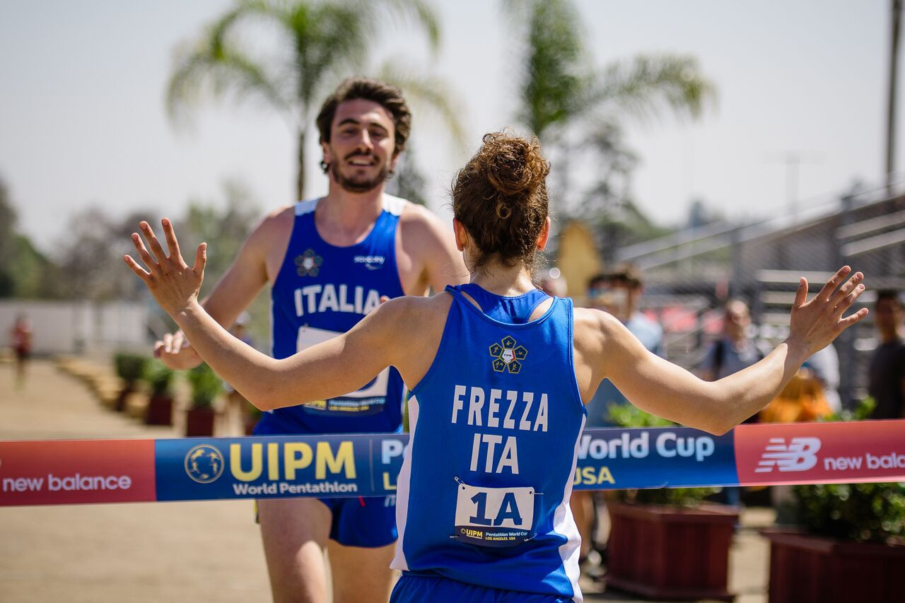 Italy secure second straight mixed relay victory at UIPM World Cup