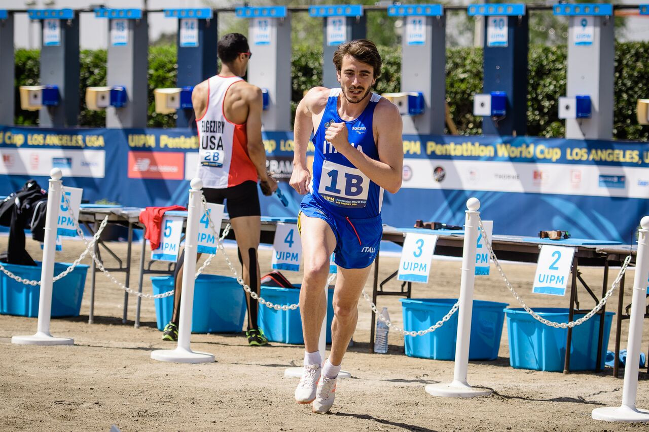 Riccardo de Luca spearheaded Italy to another relay win ©UIPM