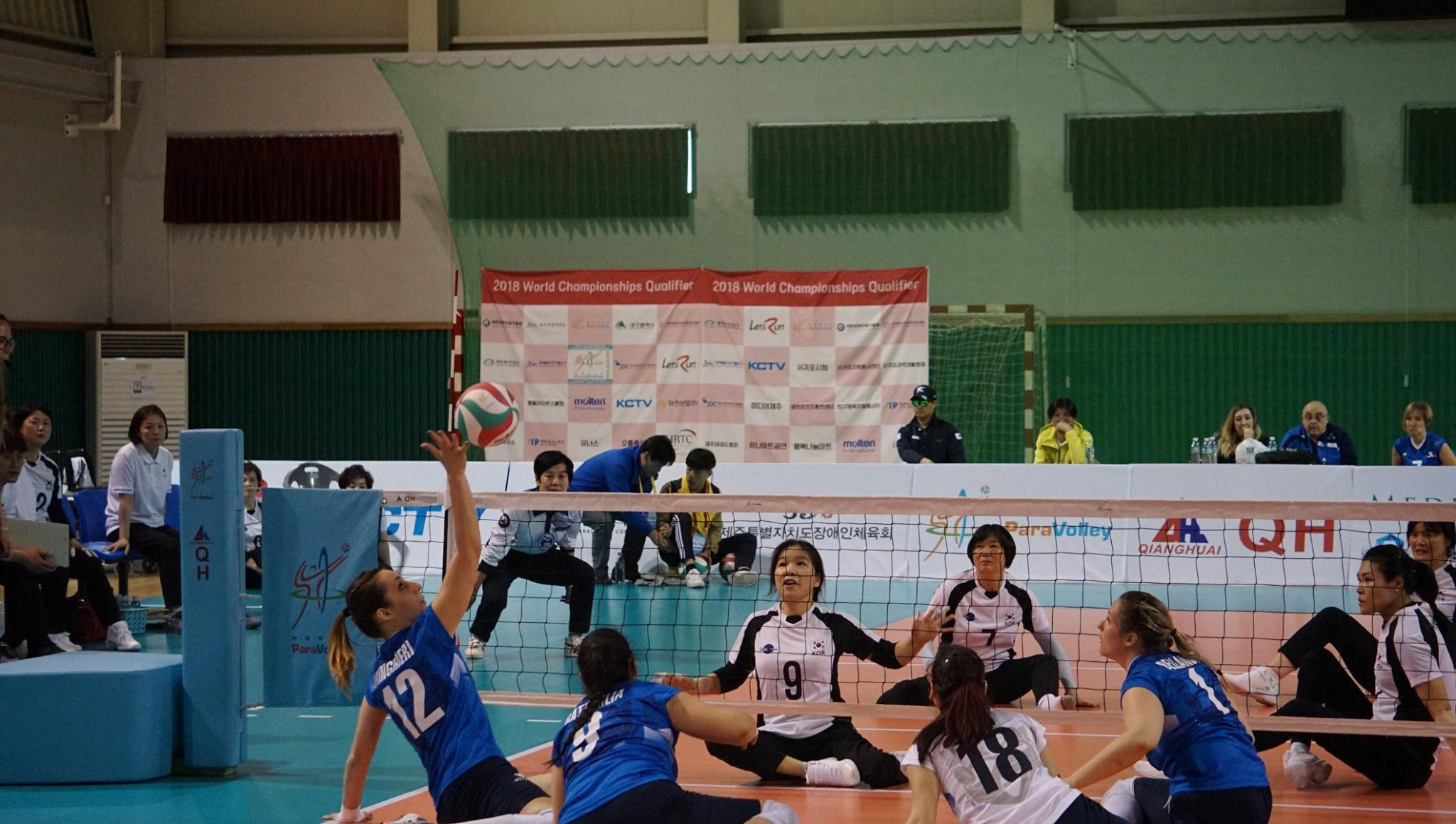 Italy's women qualify for 2018 Sitting Volleyball World Championships on disappointing day for South Korea