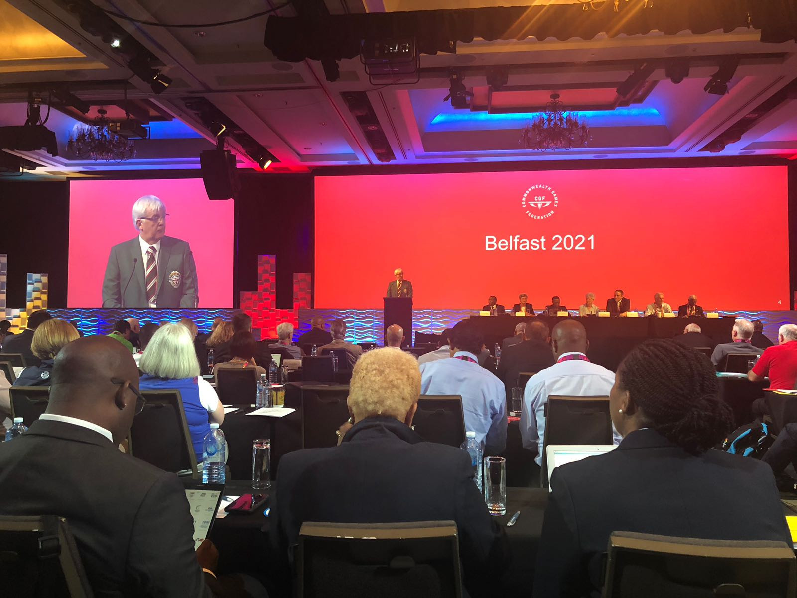 Belfast 2021 presented to the General Assembly ©CGF