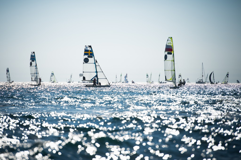 The 2013 49er class World Championships also took place in Marseilles ©AFP/Getty Images