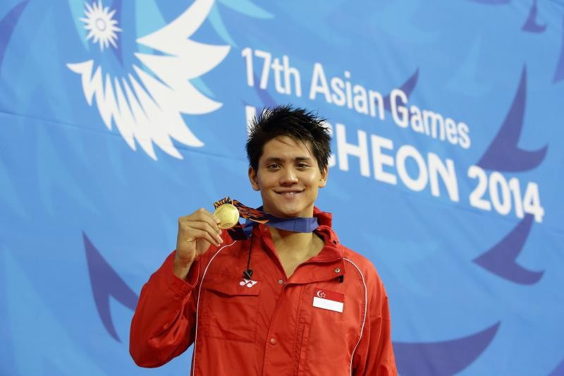 Swimmer Joseph Schooling was among Singapore's Asian Games gold medallist at Incheon 2014 ©Getty Images