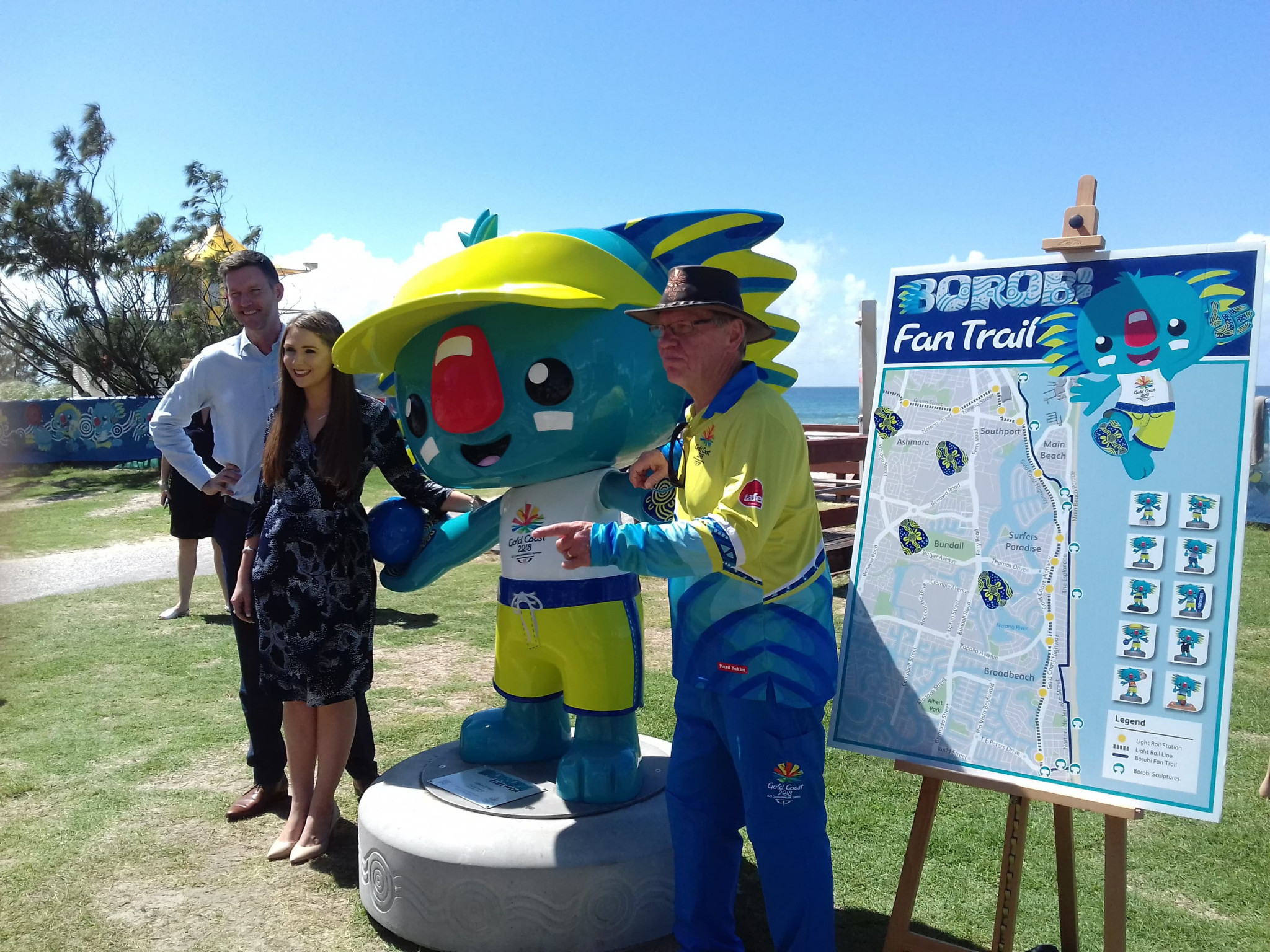Gold Coast 2018 launched the trail at the Broadbeach lawn bowls venue ©ITG