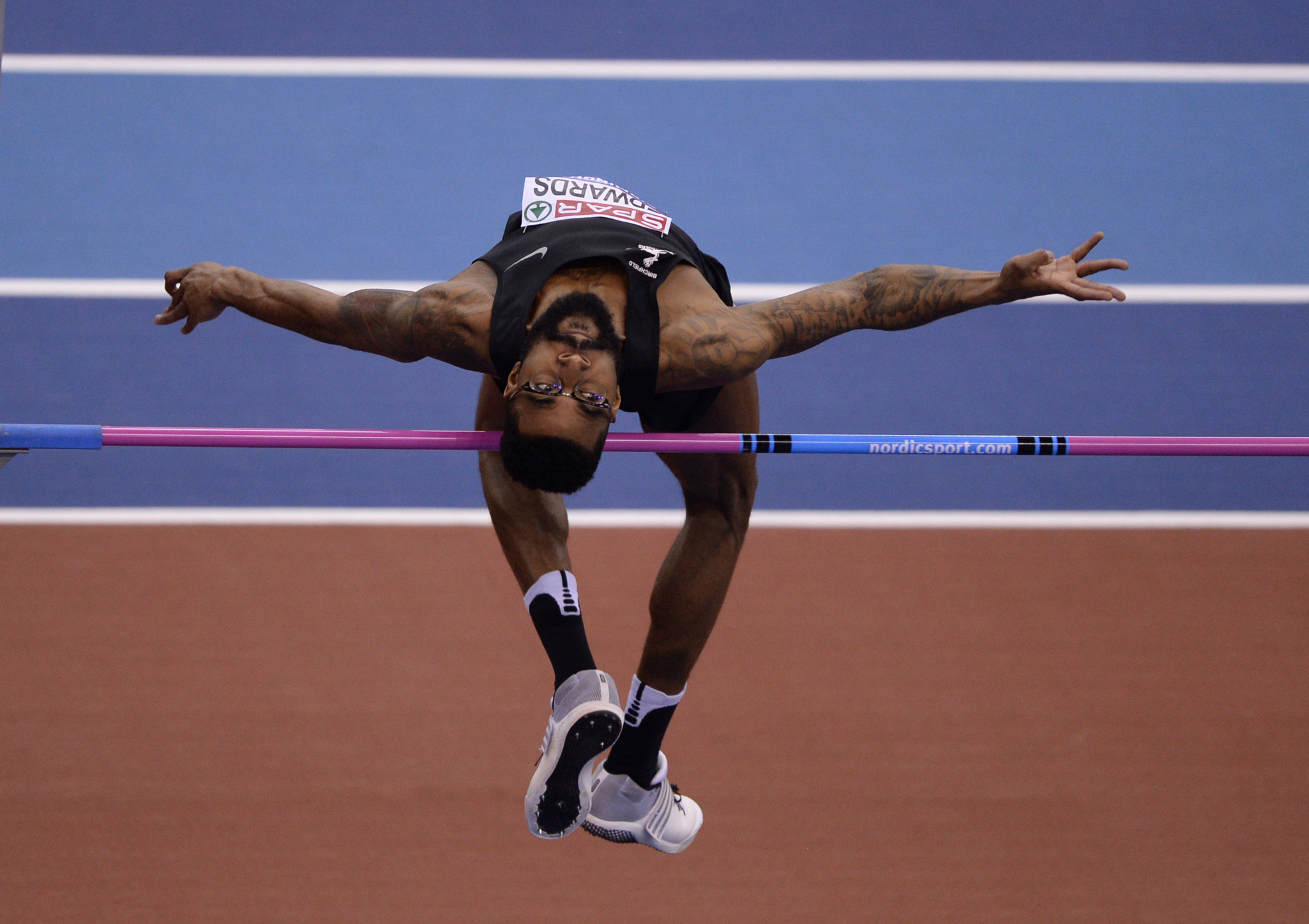 Mike Edwards pictured competing at the British Indoor Athletics Championships ©Getty Images