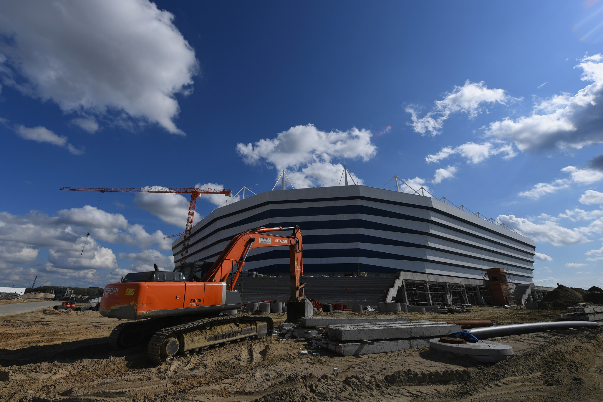 The World Cup stadium in Kaliningrad is still yet to be fully completed ©Getty Images