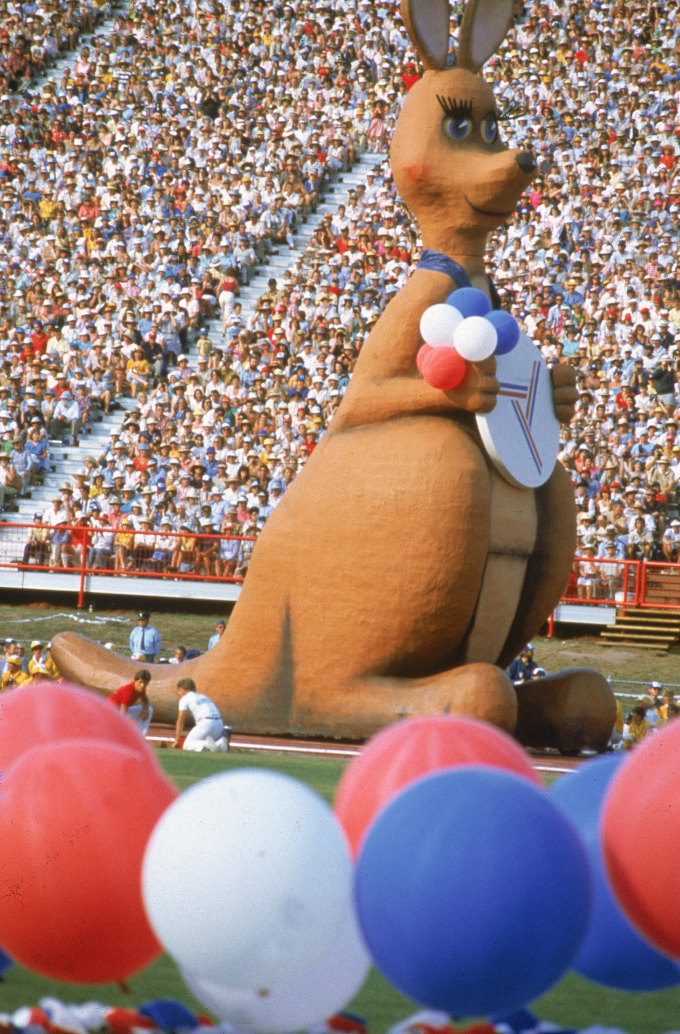 The kangaroo Matilda appeared at the Opening Ceremony of the Brisbane 1982 Commonwealth Games ©Getty Images
