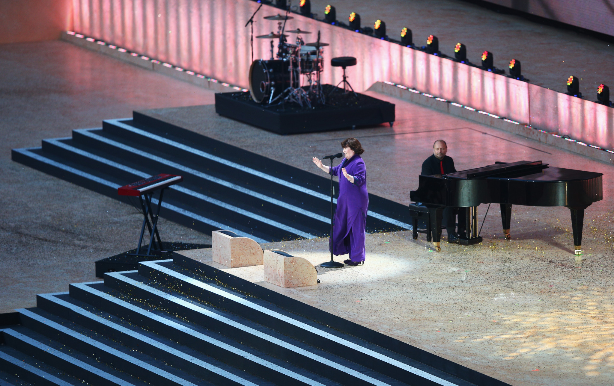 Susan Boyle sang at the Opening Ceremony of the Glasgow 2014 Commonwealth Games ©Getty Images