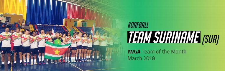 Suriname's korfball side has been named as team of the month for March by the International World Games Association ©IWGA