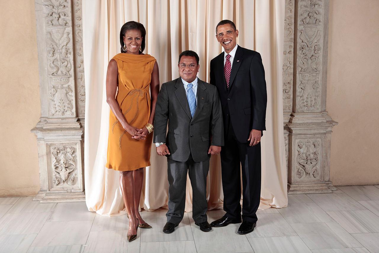 Marcus Stephen met former US President Barack Obama during his time as President of Nauru ©ITG