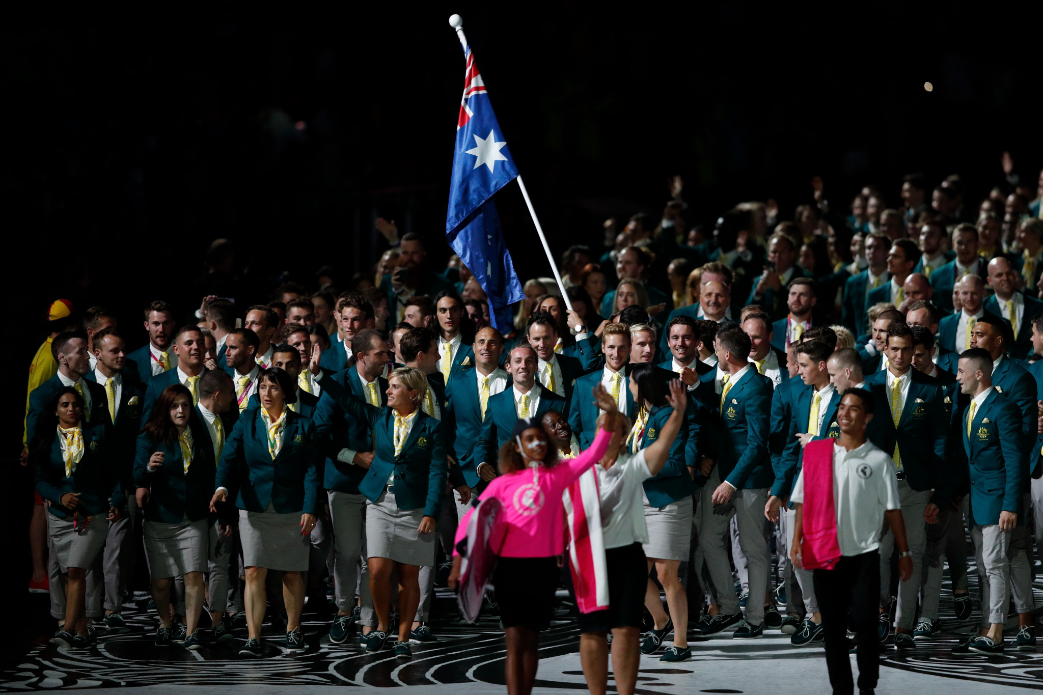 Australia's arrival was a highlight of the Opening Ceremony ©Getty Images