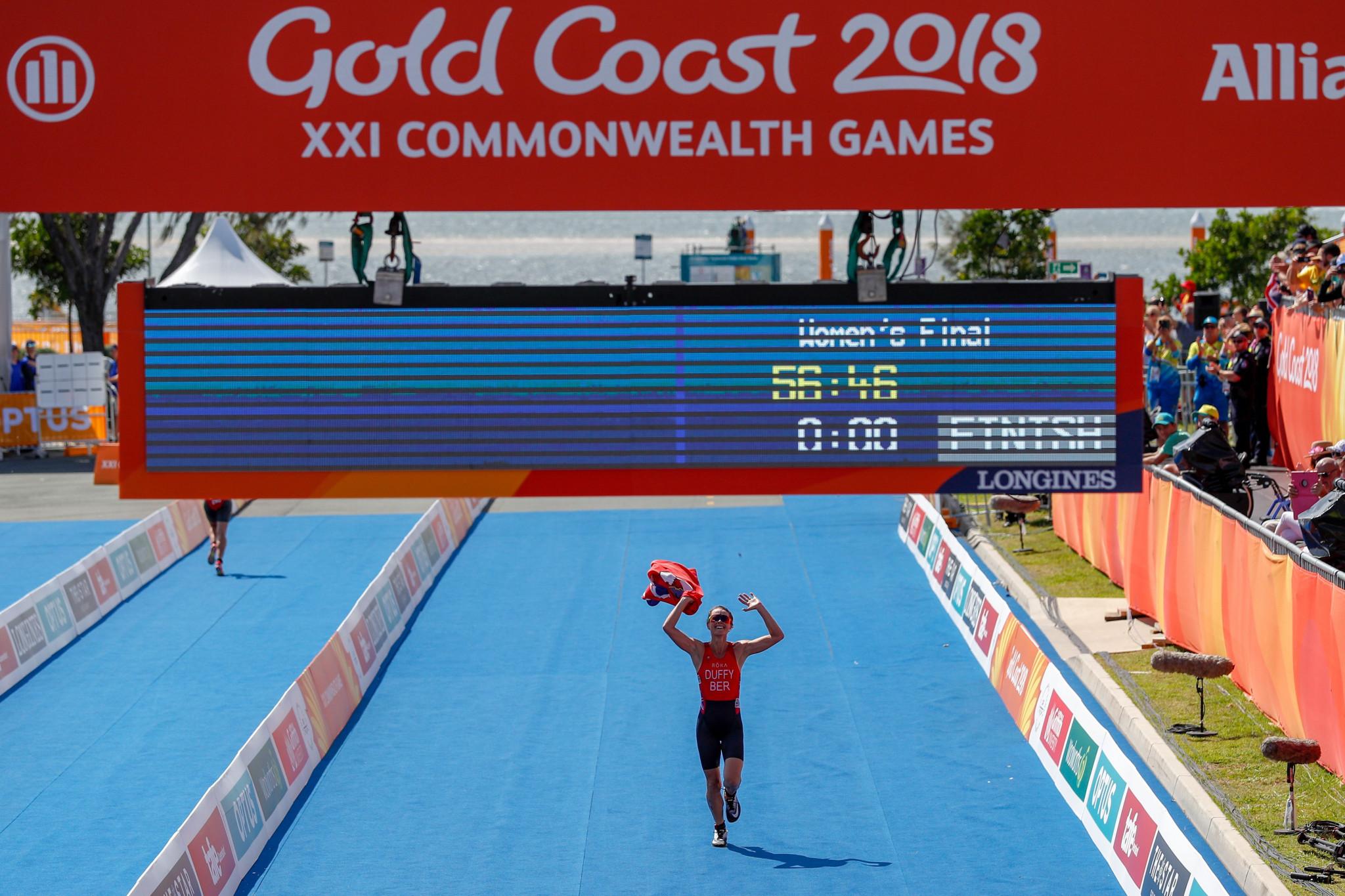 Bermudan triathlete Duffy wins first gold medal of Gold Coast 2018
