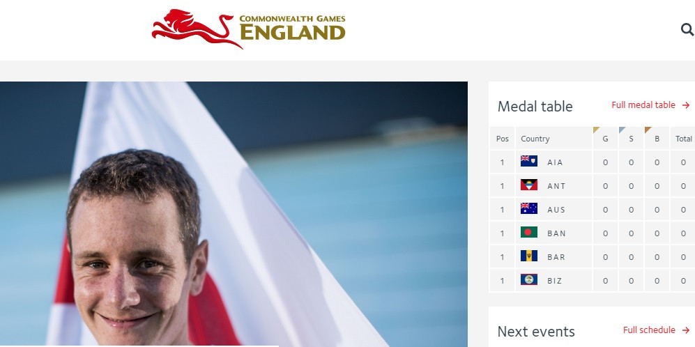 New Team England website launched to coincide with start of Gold Coast 2018