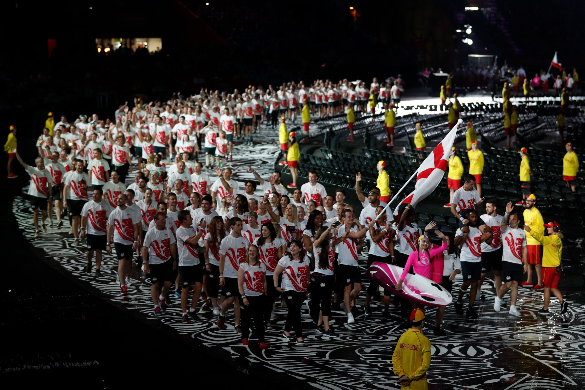 England's team marched in the Gold Coast 2018 Opening Ceremony ©Getty Images