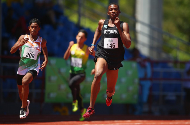 Youth Olympics silver medallist Sibanda takes boy's 400m gold on day two of athletics at Samoa 2015