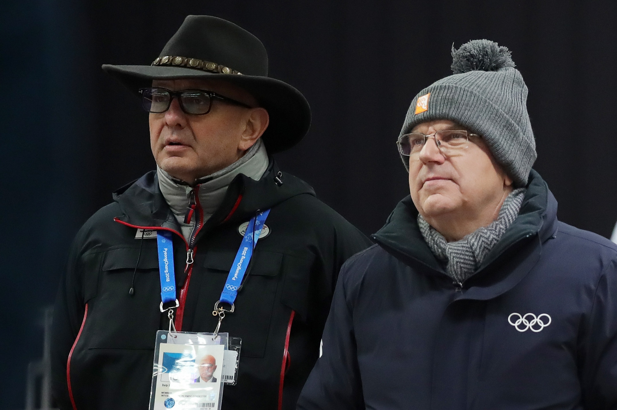 IBSF President Ivo Ferriani, pictured with IOC counterpart Thomas Bach, would prefer to see monobob added ©Getty Images