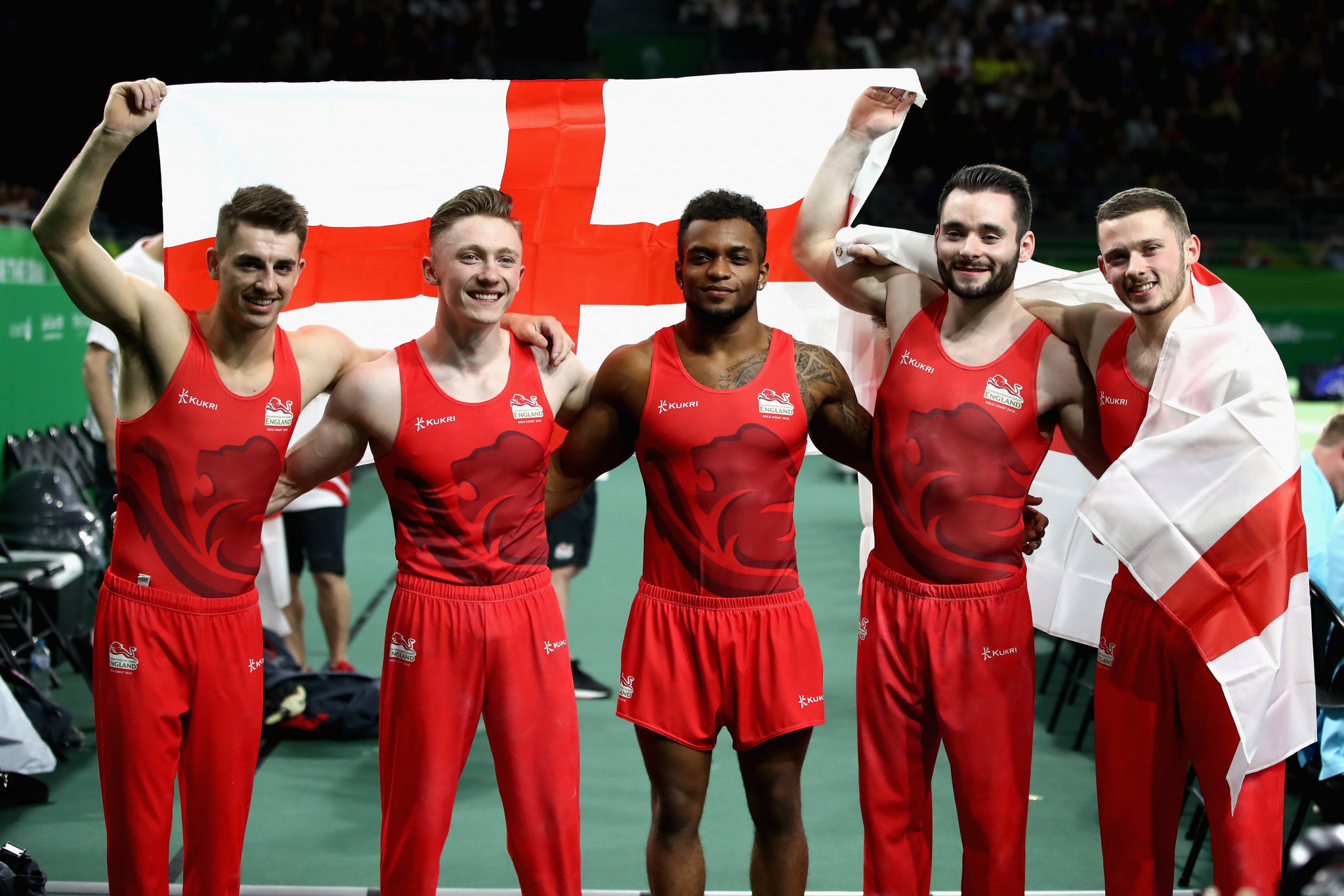 England clinch men's team gold as gymnastics begins at Gold Coast 2018